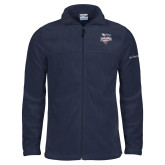 Columbia Full Zip Navy Fleece Jacket-Official Logo
