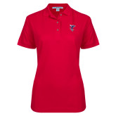 Ladies Easycare Red Pique Polo-Hornet