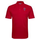 Red Textured Saddle Shoulder Polo-Hornet