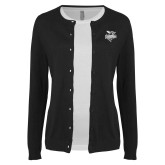 Ladies Black Cardigan-Official Logo