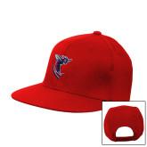 Red Flat Bill Snapback Hat-Hornet
