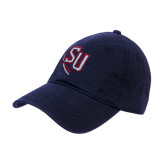 Navy Twill Unstructured Low Profile Hat-SU