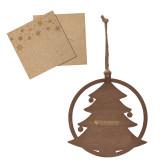 Wood Holiday Tree Ornament-Primary University Mark Engraved