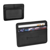 Pedova Black Card Wallet-Primary University Mark Engraved