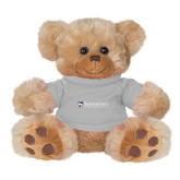 Plush Big Paw 8 1/2 inch Brown Bear w/Grey Shirt-Primary University Mark
