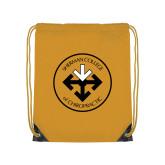 Gold Drawstring Backpack-Seal