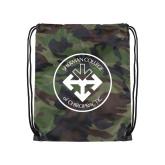 Camo Drawstring Backpack-Seal