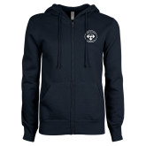ENZA Ladies Navy Fleece Full Zip Hoodie-Seal
