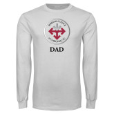 White Long Sleeve T Shirt-Dad with Seal