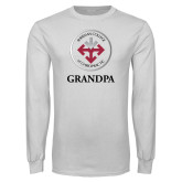 White Long Sleeve T Shirt-Grandpa with Seal