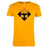 Ladies Gold T Shirt-Sherman Arrows