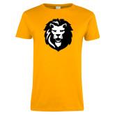 Ladies Gold T Shirt-Larry Lion