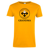 Ladies Gold T Shirt-Grandma with Seal