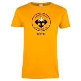 Ladies Gold T Shirt-Mom with Seal
