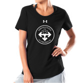 Ladies Under Armour Black Charged Cotton Tee-Seal