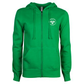 ENZA Ladies Kelly Green Fleece Full Zip Hoodie-Seal