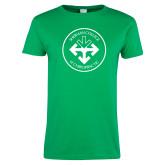 Ladies Kelly Green T Shirt-Seal