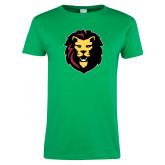 Ladies Kelly Green T Shirt-Larry Lion