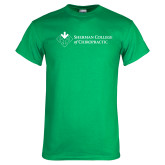 Kelly Green T Shirt-College Logo