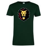 Ladies Dark Green T Shirt-Larry Lion