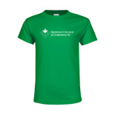 Youth Kelly Green T Shirt-College Logo