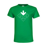 Youth Kelly Green T Shirt-Sherman Arrows