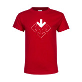 Youth Red T Shirt-Sherman Arrows