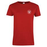Ladies Red T Shirt-Seal