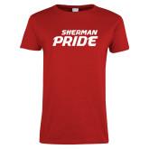 Ladies Red T Shirt-Sherman Pride