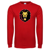 Red Long Sleeve T Shirt-Larry Lion