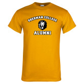 Gold T Shirt-Alumni with Lion