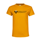 Youth Gold T Shirt-College Logo