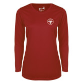 Ladies Syntrel Performance Cardinal Longsleeve Shirt-Seal