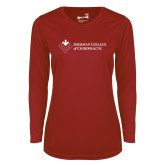 Ladies Syntrel Performance Cardinal Longsleeve Shirt-College Logo
