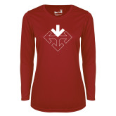 Ladies Syntrel Performance Cardinal Longsleeve Shirt-Sherman Arrows