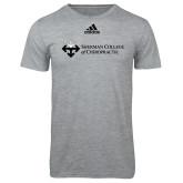 Adidas Sport Grey Logo T Shirt-College Logo