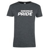 Ladies Dark Heather T Shirt-Sherman Pride