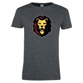 Ladies Dark Heather T Shirt-Larry Lion