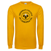 Gold Long Sleeve T Shirt-Sherman Arrows in College Name Ring