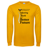 Gold Long Sleeve T Shirt-Adjusting the World for a Better Future
