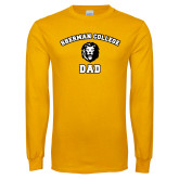 Gold Long Sleeve T Shirt-Dad with Lion