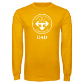 Gold Long Sleeve T Shirt-Dad with Seal