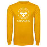 Gold Long Sleeve T Shirt-Grandpa with Seal