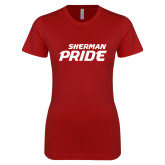 Next Level Ladies SoftStyle Junior Fitted Cardinal Tee-Sherman Pride
