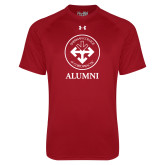 Under Armour Cardinal Tech Tee-Alumni with Seal