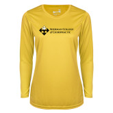 Ladies Syntrel Performance Gold Longsleeve Shirt-College Logo