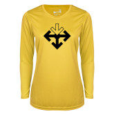 Ladies Syntrel Performance Gold Longsleeve Shirt-Sherman Arrows