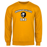 Gold Fleece Crew-Dad with Lion