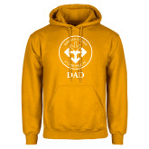 Gold Fleece Hoodie-Dad with Seal
