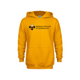 Youth Gold Fleece Hoodie-College Logo